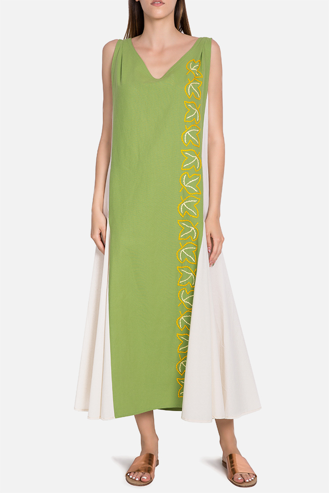 Embroidered cotton maxi dress Nicoleta Obis image 0