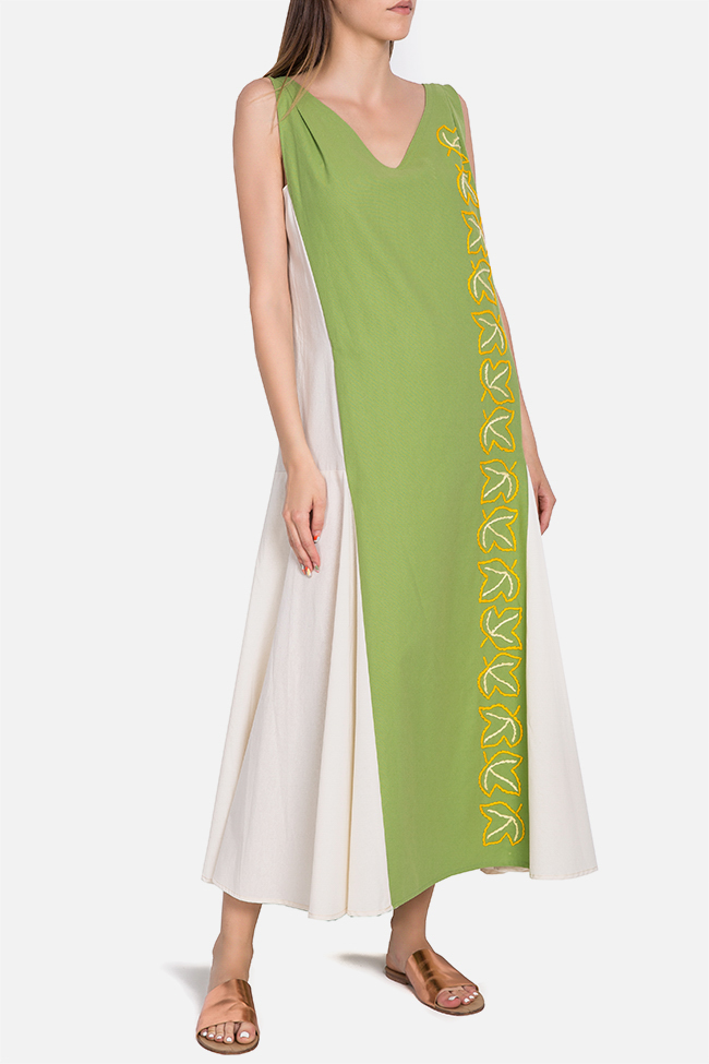 Embroidered cotton maxi dress Nicoleta Obis image 1