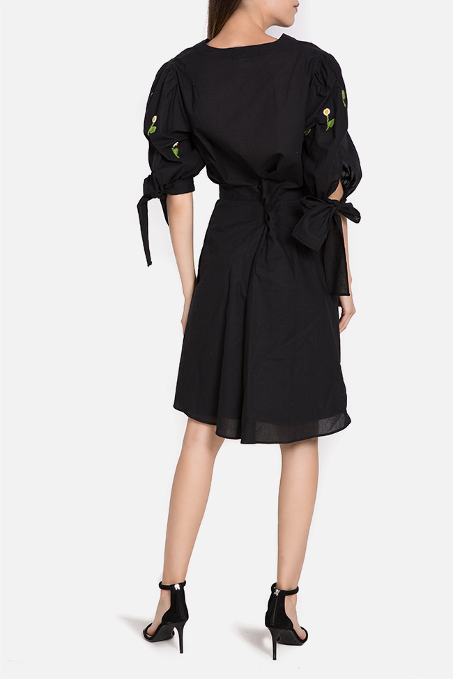 Embroidered cotton mini dress with detachable apron Nicoleta Obis image 2