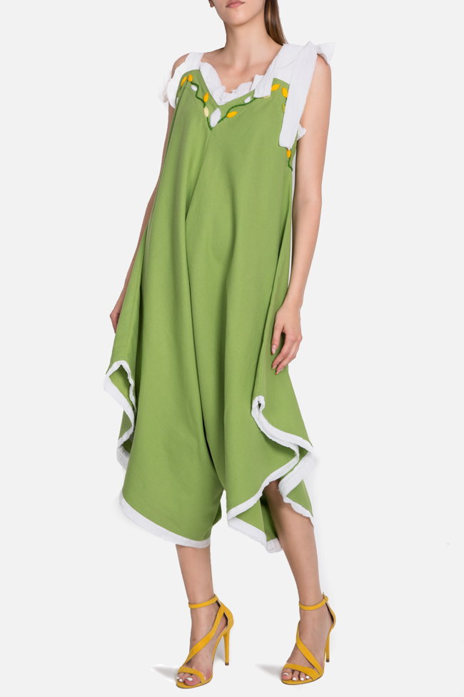 Embroidered asymmetric cotton jumpsuit Nicoleta Obis image 0