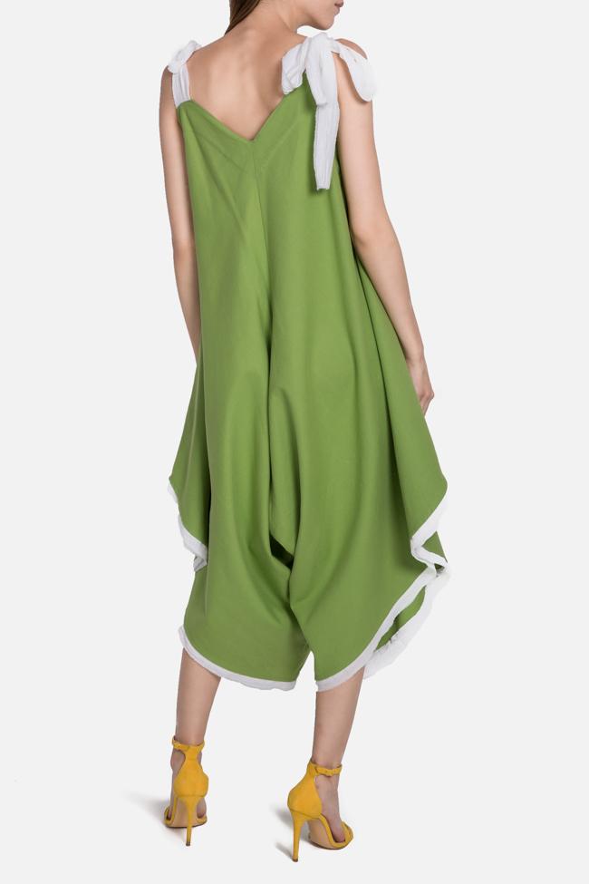 Embroidered asymmetric cotton jumpsuit Nicoleta Obis image 2