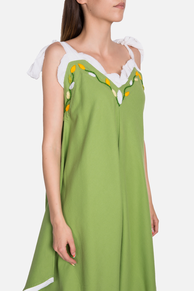 Embroidered asymmetric cotton jumpsuit Nicoleta Obis image 3