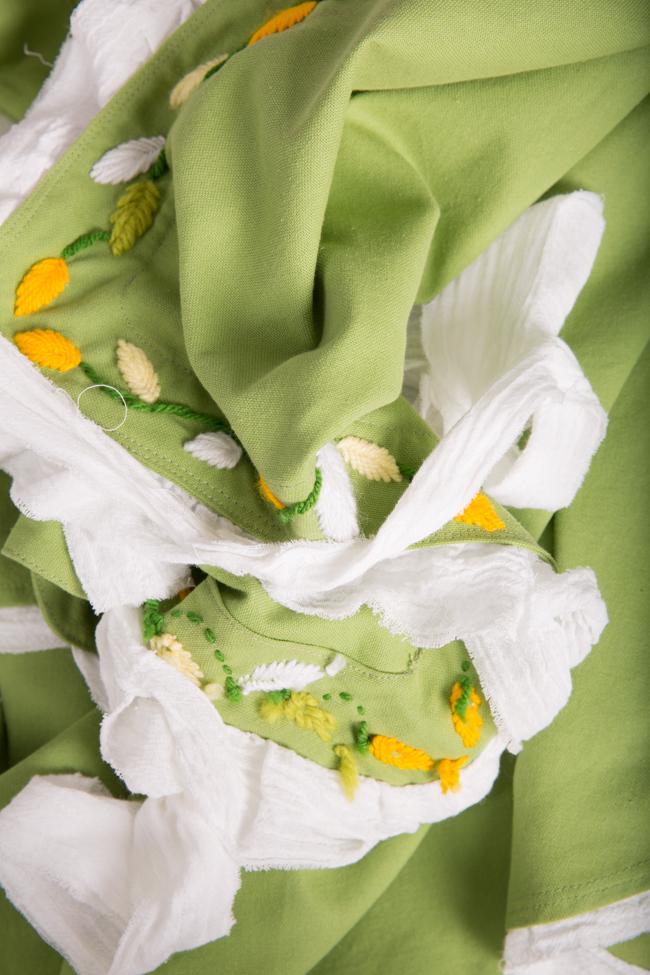 Embroidered asymmetric cotton jumpsuit Nicoleta Obis image 4