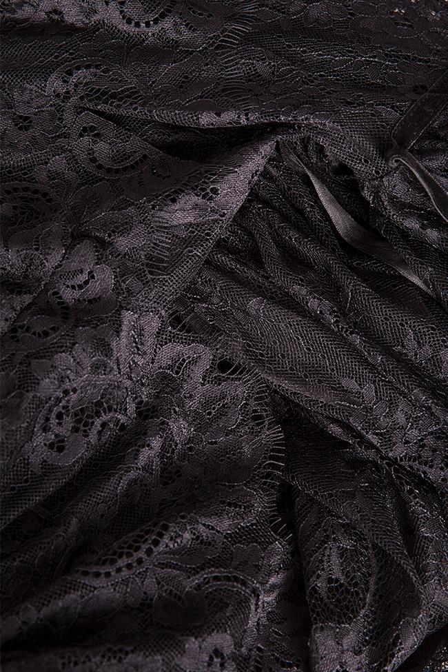 Meda ruffled lace midi dress Arllabel Golden Brand image 4