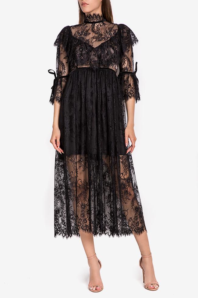 Meda ruffled lace midi dress Arllabel Golden Brand image 1