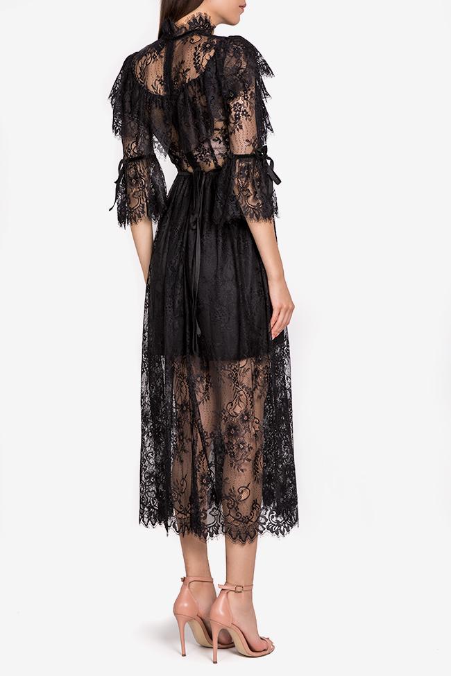 Meda ruffled lace midi dress Arllabel Golden Brand image 2