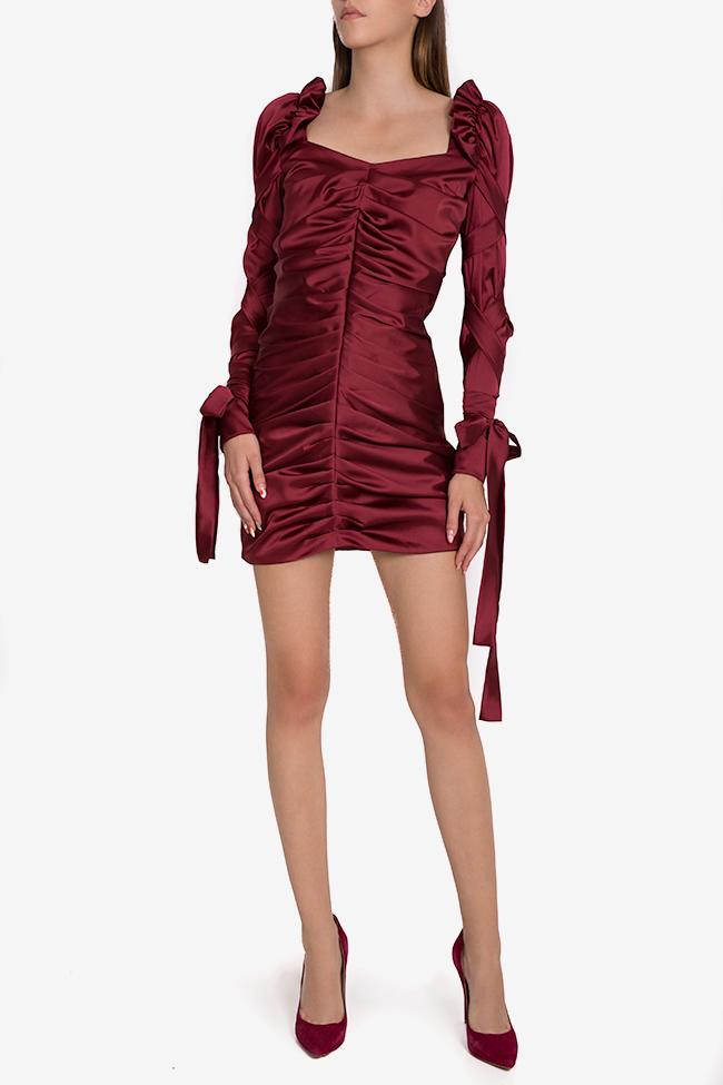 Robe en soie satinée avec écharpes décoratives Amélie Arllabel Golden Brand image 1