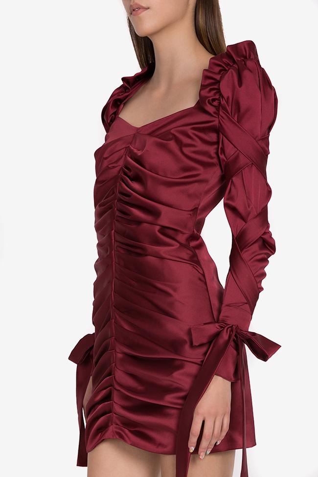 Robe en soie satinée avec écharpes décoratives Amélie Arllabel Golden Brand image 0