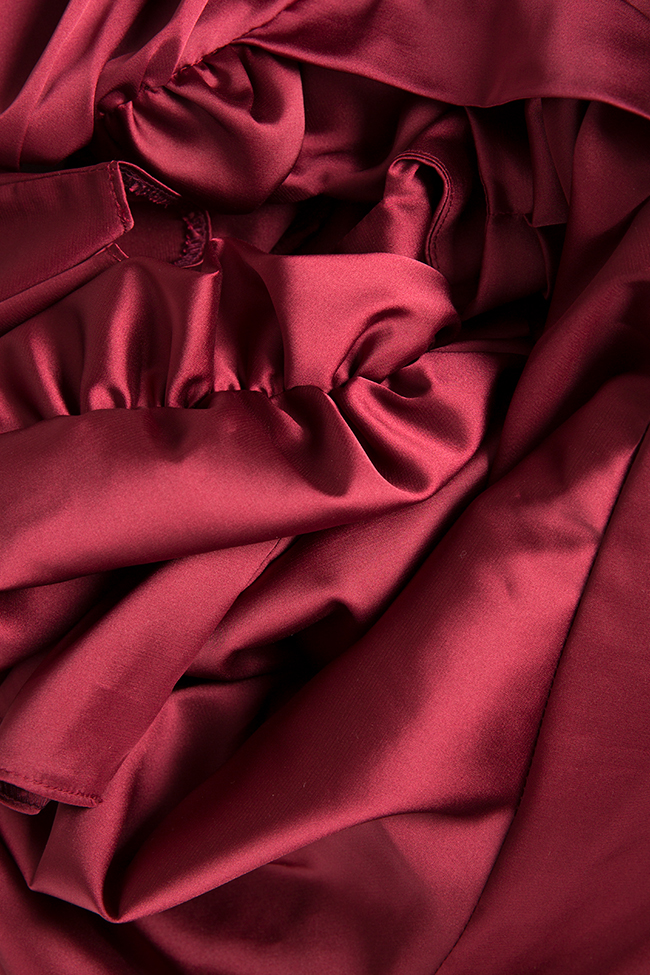 Rochie din matase satinata cu esarfe decorative Amélie Arllabel Golden Brand imagine 4