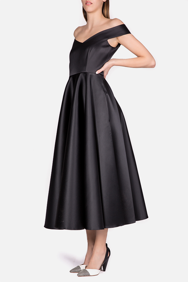Retro off-the-shoulder taffeta gown Cloche image 1