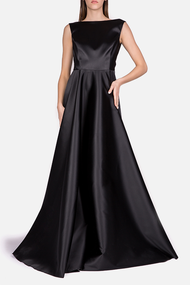 Open-back taffeta gown Cloche image 0