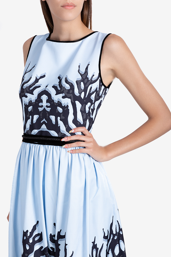 Rochie din tafta din amestec de bumbac cu spatele gol Ramona Belciu imagine 3