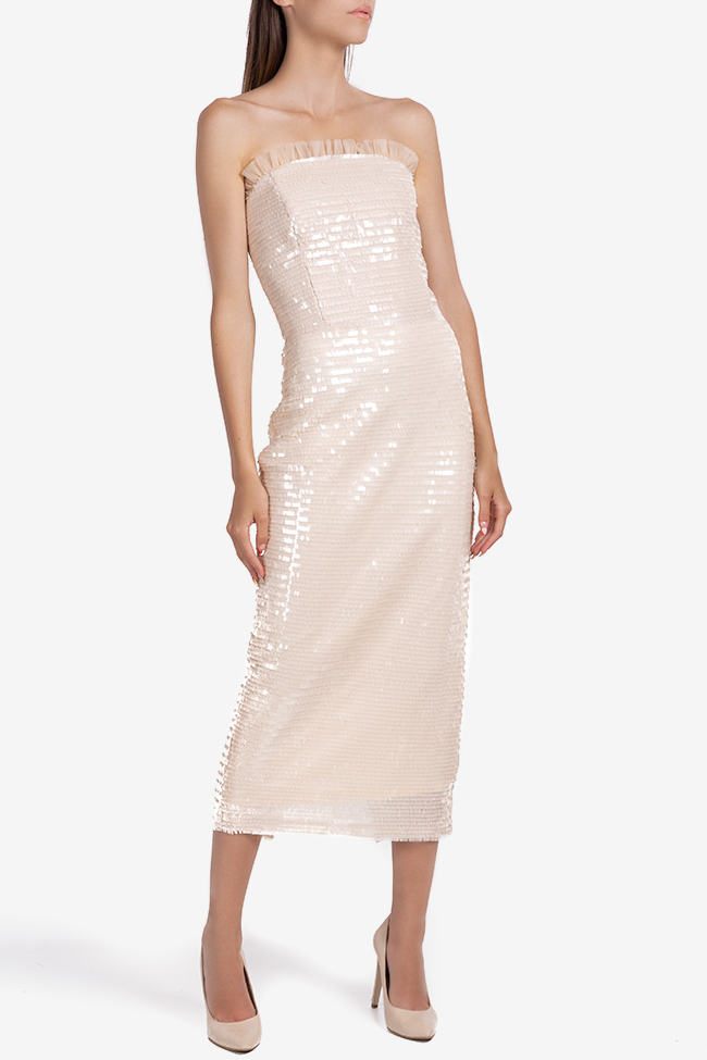 Giulia strapless sequined tulle midi dress Ramona Belciu image 0