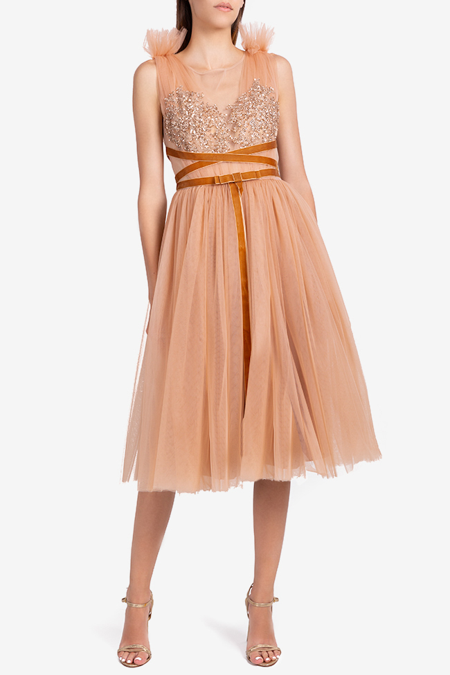 Luana embellished tulle and lace midi dress Ramona Belciu image 0