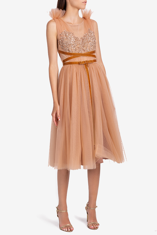 Luana embellished tulle and lace midi dress Ramona Belciu image 1
