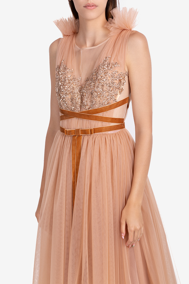 Luana embellished tulle and lace midi dress Ramona Belciu image 3
