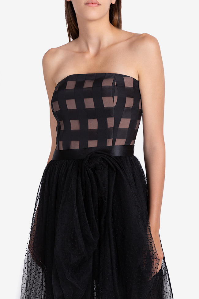 Bella checked polka-dots tulle midi dress Ramona Belciu image 3