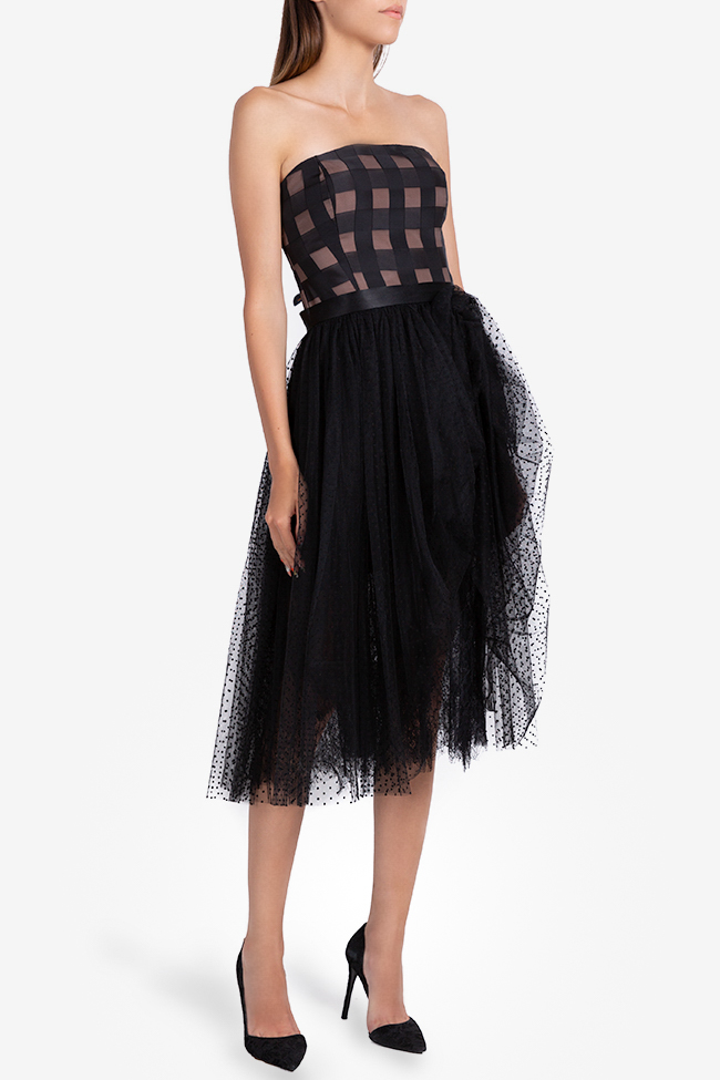 Bella checked polka-dots tulle midi dress Ramona Belciu image 0
