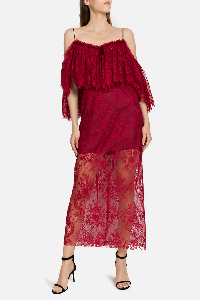 Rania off-the-shoulder lace midi dress  Arllabel Golden Brand image 0