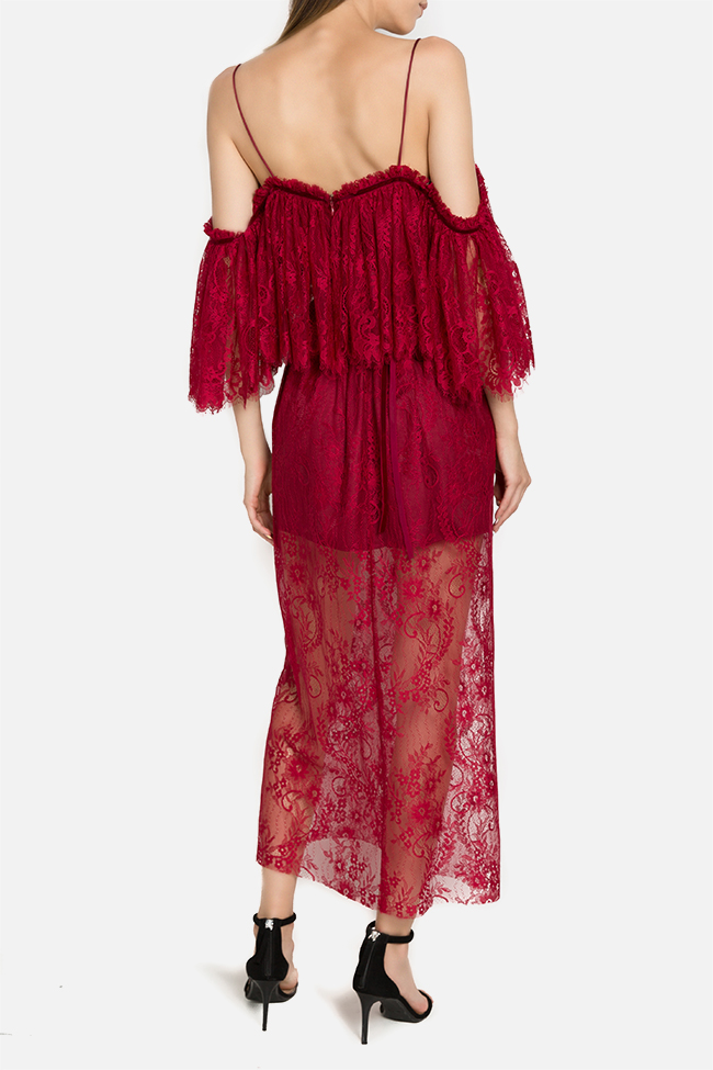 Rania off-the-shoulder lace midi dress  Arllabel Golden Brand image 2