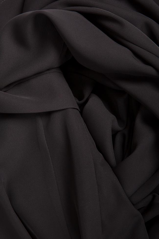Rochie asimetrica din crep cu volane Kara Arllabel Golden Brand imagine 4