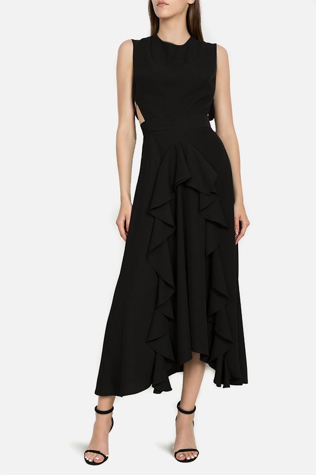 Kara asymmetric ruffled dress Arllabel Golden Brand image 0
