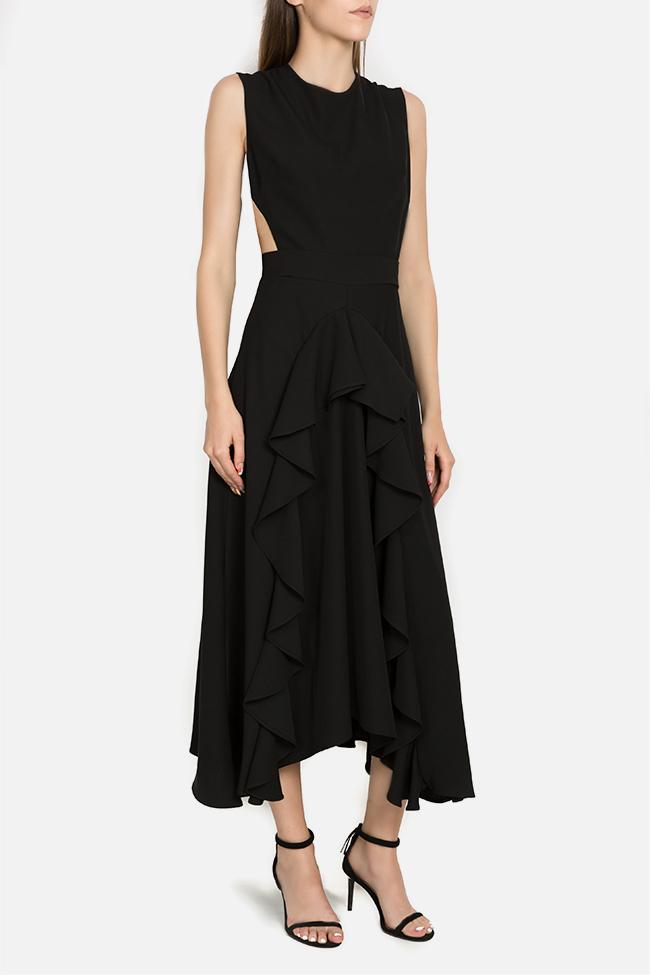 Kara asymmetric ruffled dress Arllabel Golden Brand image 1