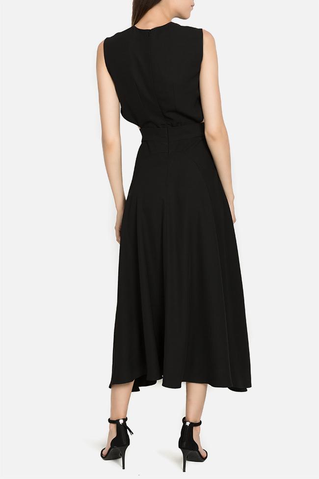 Kara asymmetric ruffled dress Arllabel Golden Brand image 2