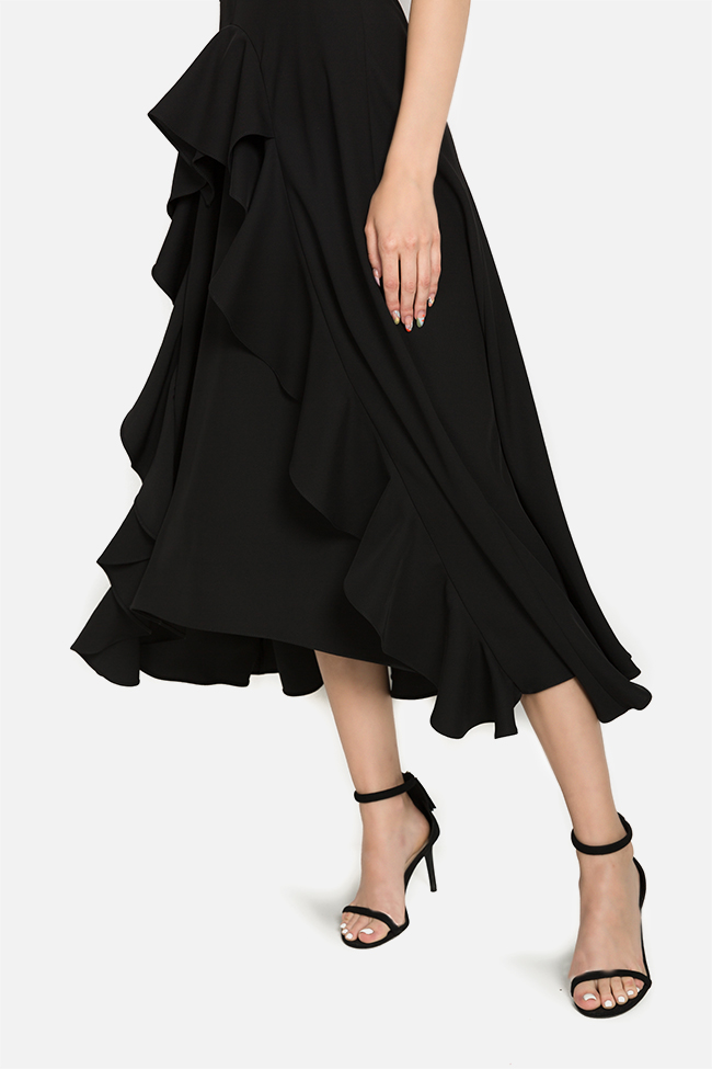 Kara asymmetric ruffled dress Arllabel Golden Brand image 3