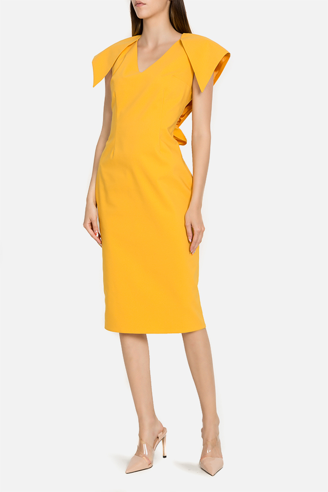 Asymmetric cotton-blend midi dress LRM image 0