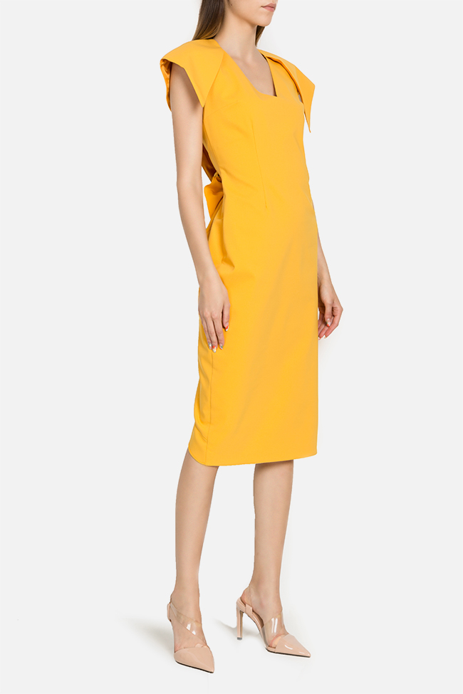 Asymmetric cotton-blend midi dress LRM image 1