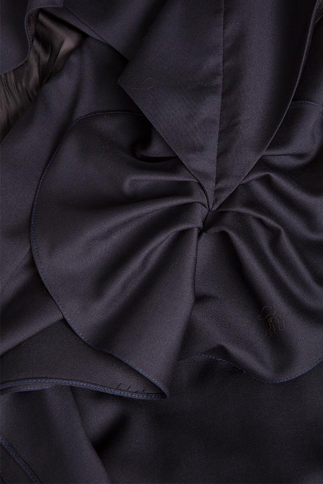 Rochie asimetrica din stofa subtire de lana Susur LRM imagine 4