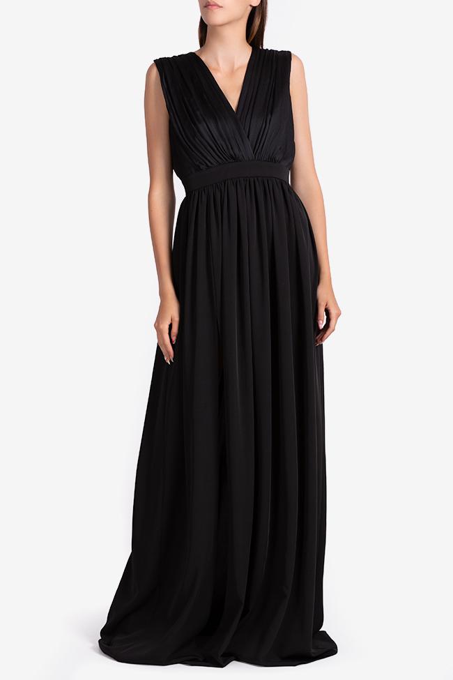 Draped silk-blend maxi dress Bluzat Cocktail image 0