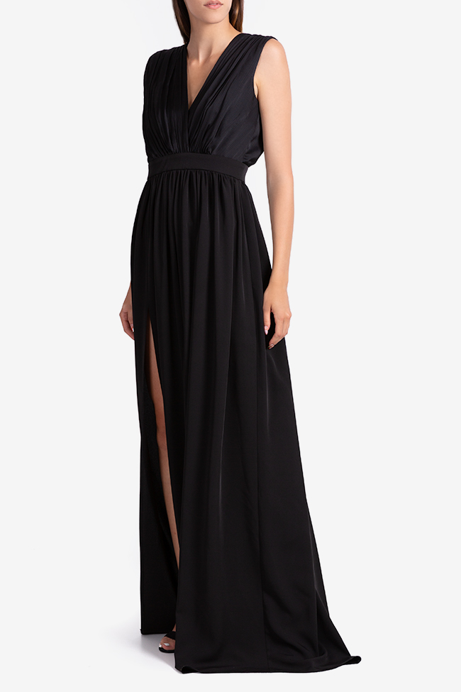 Draped silk-blend maxi dress Bluzat Cocktail image 1