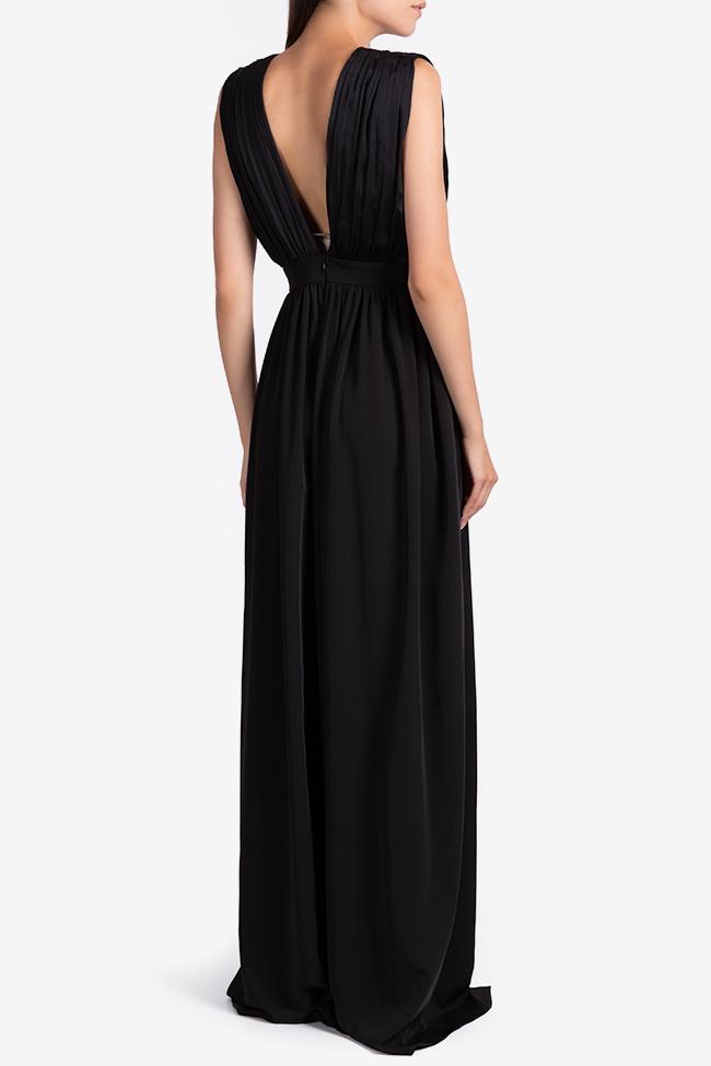 Draped silk-blend maxi dress Bluzat Cocktail image 2
