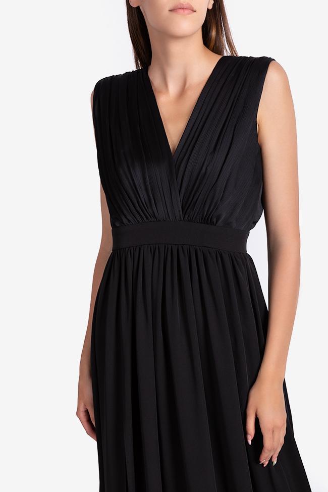 Draped silk-blend maxi dress Bluzat Cocktail image 3