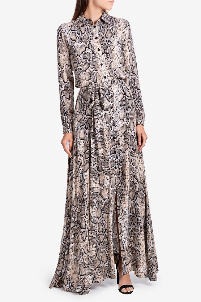 Robe en viscose avec imprimé serpent Bluzat image 0