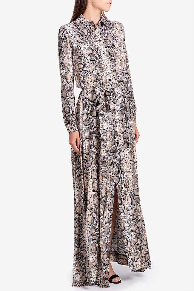 Robe en viscose avec imprimé serpent Bluzat image 1