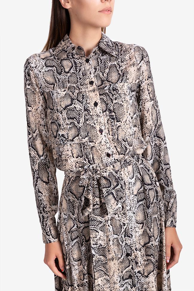 Robe en viscose avec imprimé serpent Bluzat image 3