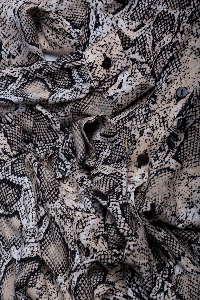 Robe en viscose avec imprimé serpent Bluzat image 4