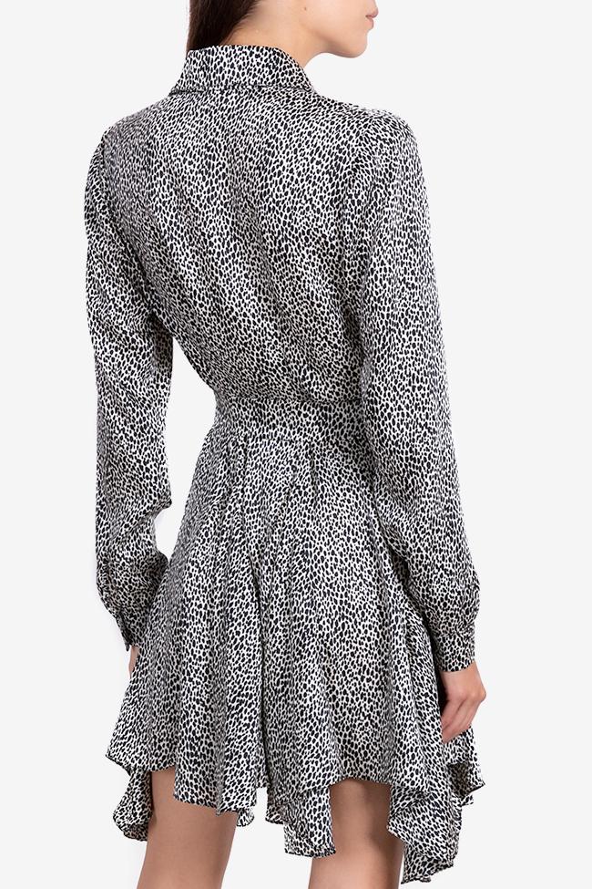 Rochie asimetrica din viscoza cu imprimeu tip sarpe Bluzat imagine 2