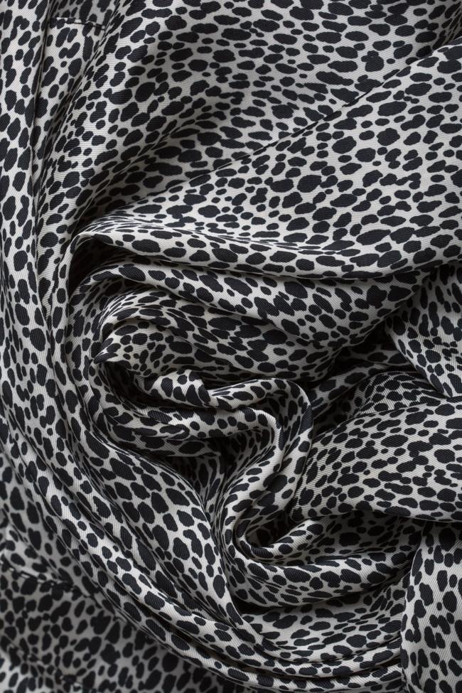 Rochie asimetrica din viscoza cu imprimeu tip sarpe Bluzat imagine 4