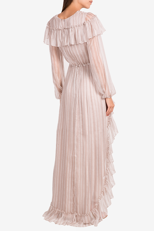 Light Gray silk maxi dress Nicole Enea image 2
