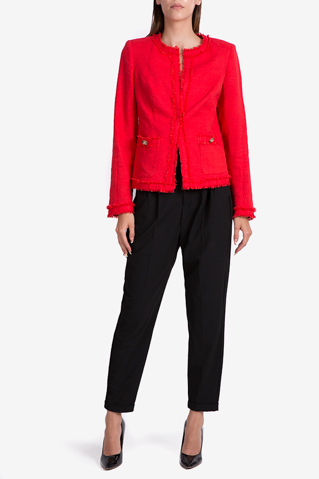 Cotton-blend blazer with side pockets Acob a Porter image 1