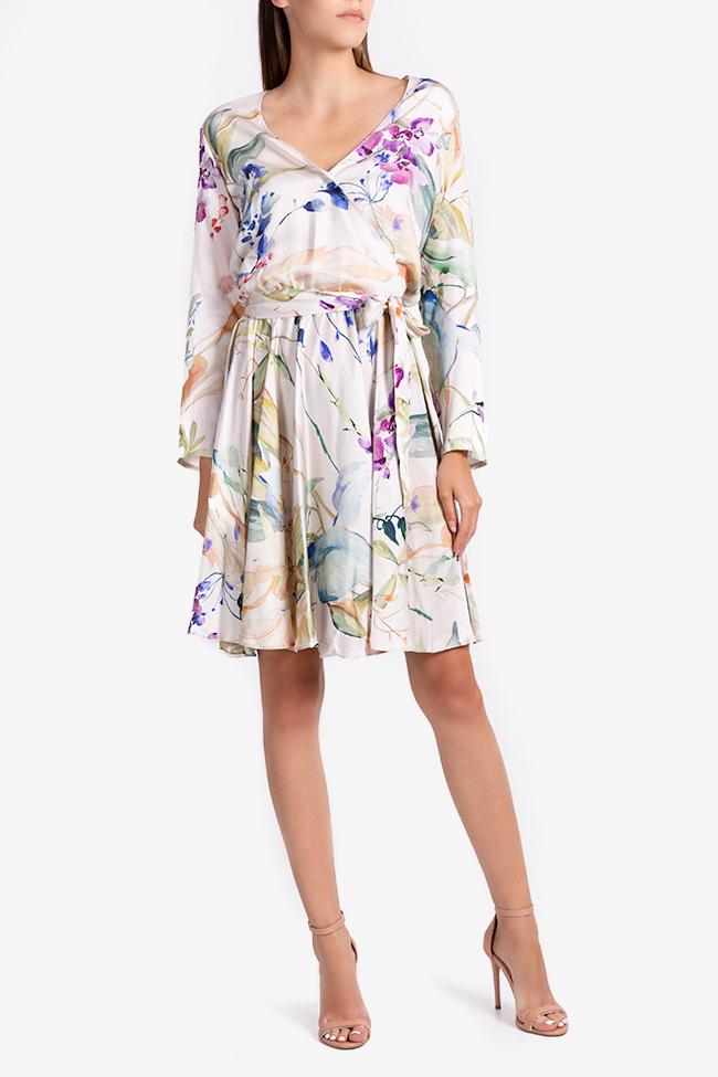 Rochie mini petrecuta cu imprimeu abstract Bluzat imagine 1