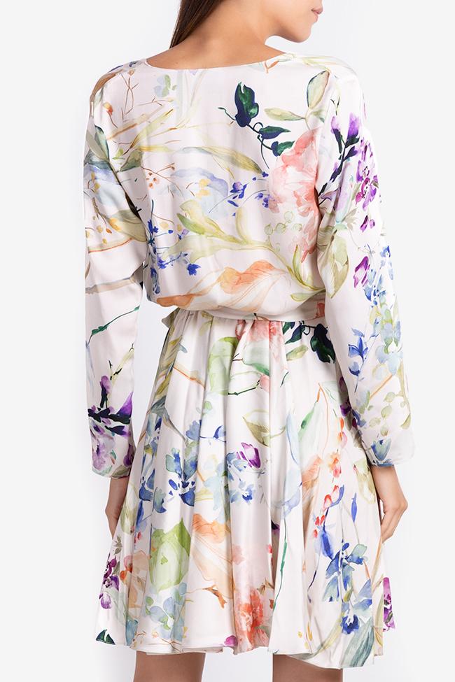 Printed wrap mini dress Bluzat image 2