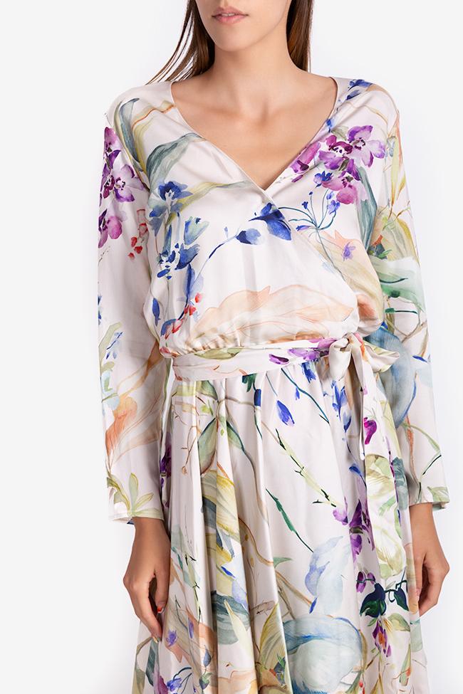 Printed wrap mini dress Bluzat image 3
