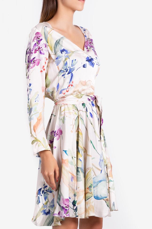 Rochie mini petrecuta cu imprimeu abstract Bluzat imagine 0