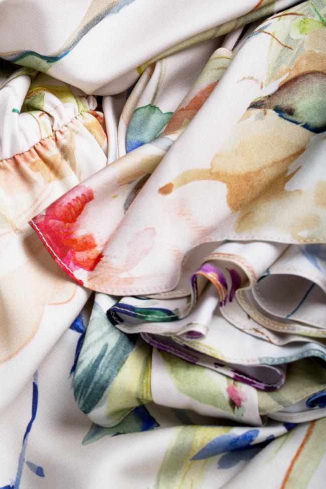 Printed wrap mini dress Bluzat image 4