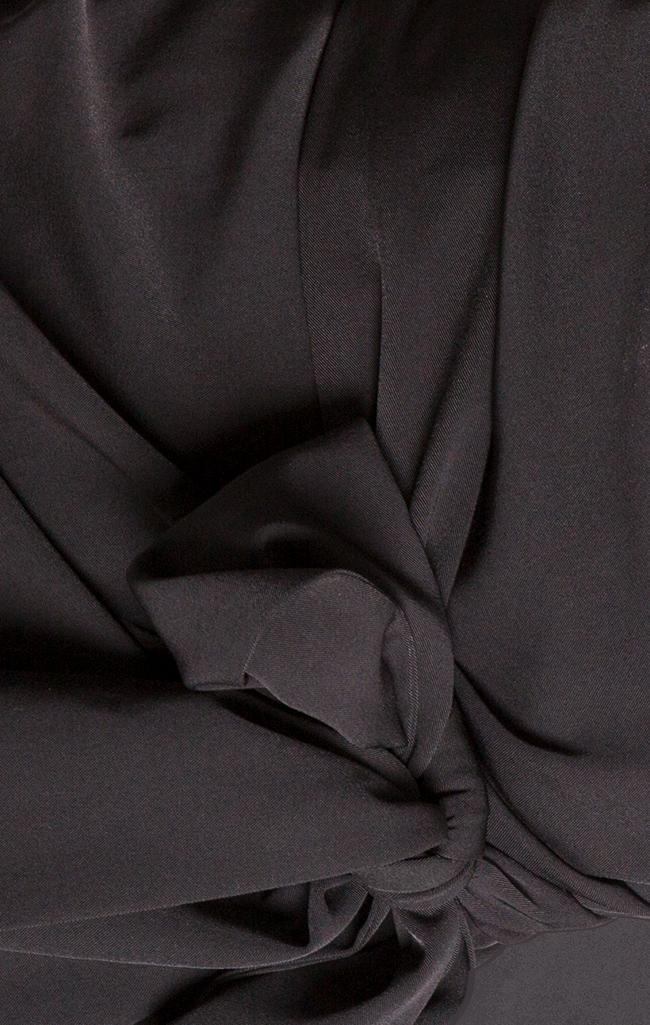 Draped crepe wrap dress Bluzat Cocktail image 4